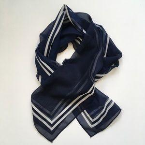 "Women's rectangular bordered scarf, ~ 10"" x 60"""